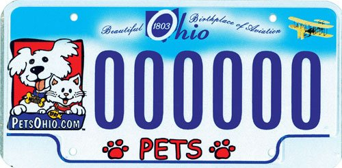 Ohio Pet License Plates